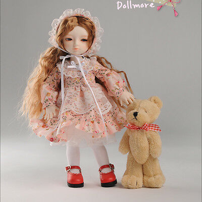 Doll dress only fits 1//6 BJD YoSD Dear Doll Size UD-86 Dress Set DM Pink