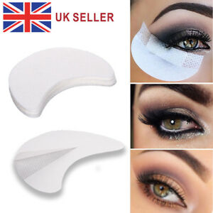 Makeup Beauty 100pcs Eyeshadow Shields Under Eye Patches Disposable Eye Shadow Makeup Protector Stickers Pads Eyes Makeup Application Traveling