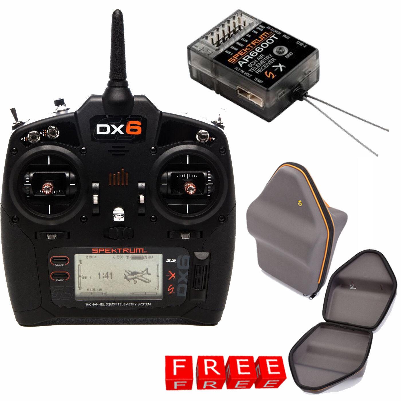 Spektrum DX6 6-Channel DSMX Transmitter Gen 3 w  Receiver  + gratuito Case  profitto zero