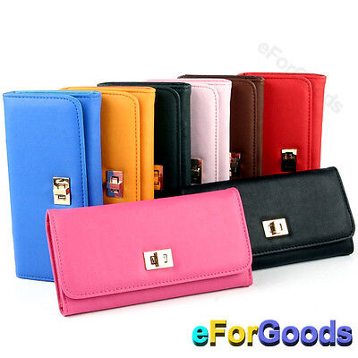 New Women Fashion PU Leather Wallet Cross Clutch Purse Lady Long Handbag Bag