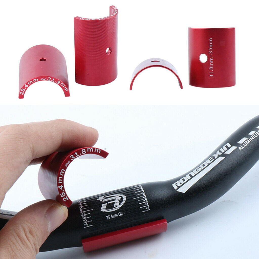 Details about  /Light Bike Handle Bar Shim Handlebar Size Adapter Changing Sleeves Stem