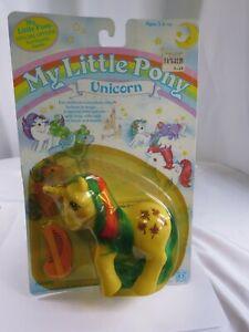 G1-My-Little-Pony-Sunshine-Pony-Gusty-Vintage-MLP-1985-Unicorn-On-Card-EB