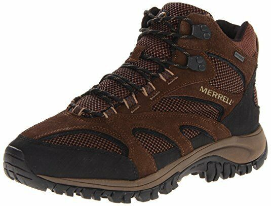 f3b286919103 NIB MEN MERRELL J39355 PHOENIX MID WATERPROOF CHOCO AIR CUSHION HIKING SHOE