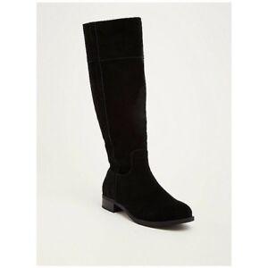 a3245c7bed1 Torrid Black Faux Suede Velvet Knee High Boots Wide Width Wide Calf ...