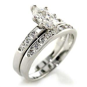 Marquise Wedding Set   B413720pb Marquise Wedding Band Engagement Ring Set Simulated