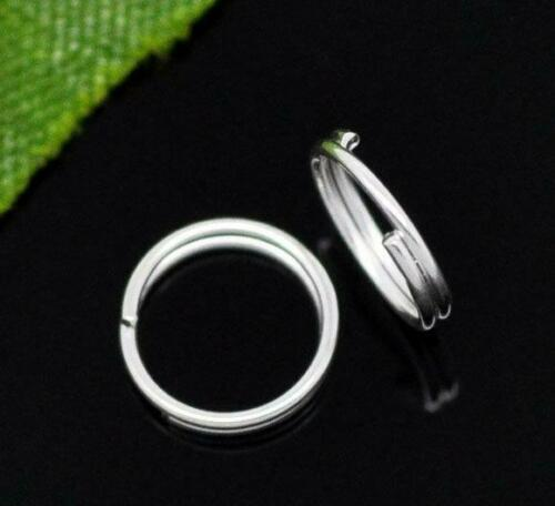 100 Silver Plated Split Rings 7mm 07932 Split Rings Silver