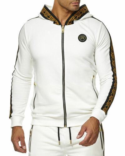 RedBridge Herren Trainingsanzug Luxury Gold Streifen Streetwear Dope Extravagant