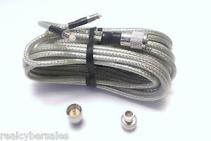 18 foot Super Dual Mini 8 CB Ham Radio Antenna Co-Phase Coax Cable SlimLine-UHF