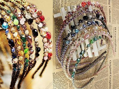 Bead Crystal Headband - Gorgeous Womens Girls Hair Head Band Accessories - New
