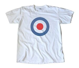 Vintage-Classic-RAF-Decal-T-Shirt-The-Who-Mod-Vespa-Lambretta-Scooter