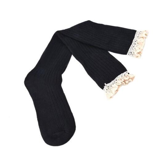 LP 1Paar Damen Strick Stulpen Beinstulpen Legwarmer Sock Spitze Baumwolle M7332