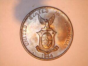 1944-S Philippines 1 Centavos UNC -709