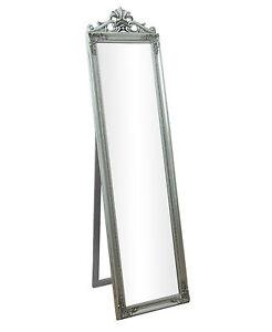 Lambeth Silver Shabby Chic Cheval Freestanding Full Length Bedroom