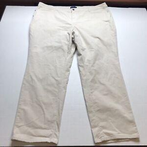 Talbots-Size-24W-Simply-Flattering-5-Pocket-Tan-Corduroy-Pants-A1179