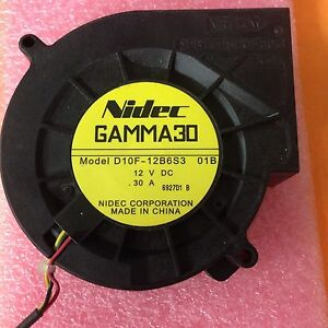 Fast Deliver New Nidec Motor Fan Gamma30 Model D10f-12b6s3 01b 12v Dc .30a Jvc Hd52g887 Refreshment Power Protection, Distribution