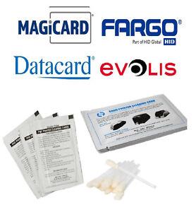 SûR Complet Kit De Nettoyage Pour Datacard, Evolis, Magicard, Ipd, Fargo Imprimantes De Cartes-afficher Le Titre D'origine Facile à Lubrifier