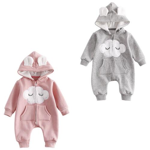 Newborn Infant Kids Baby Boy Girl Cotton Romper Jumpsuit Bodysuit Clothes Outfit