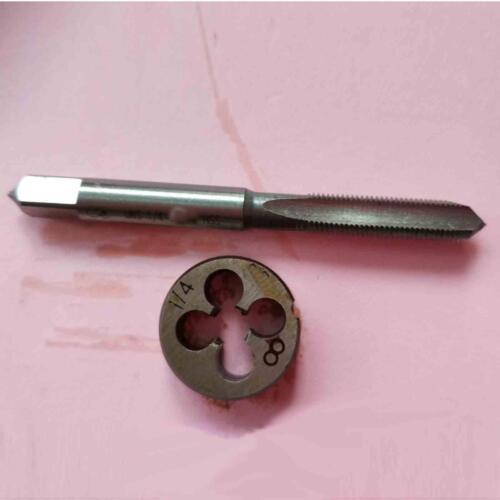 "1set  1//4/"" 0.25 inch American Standard thread HSS Machine Plug Tap Die Tool"