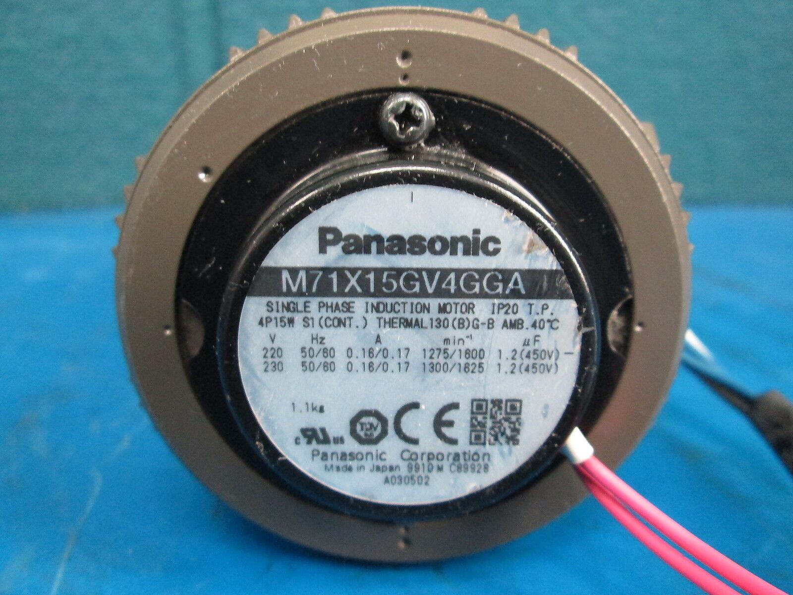 Panasonic MX7G15MA Single Phase Induction Motor M7RX15G4GGA 9Z14 | eBay