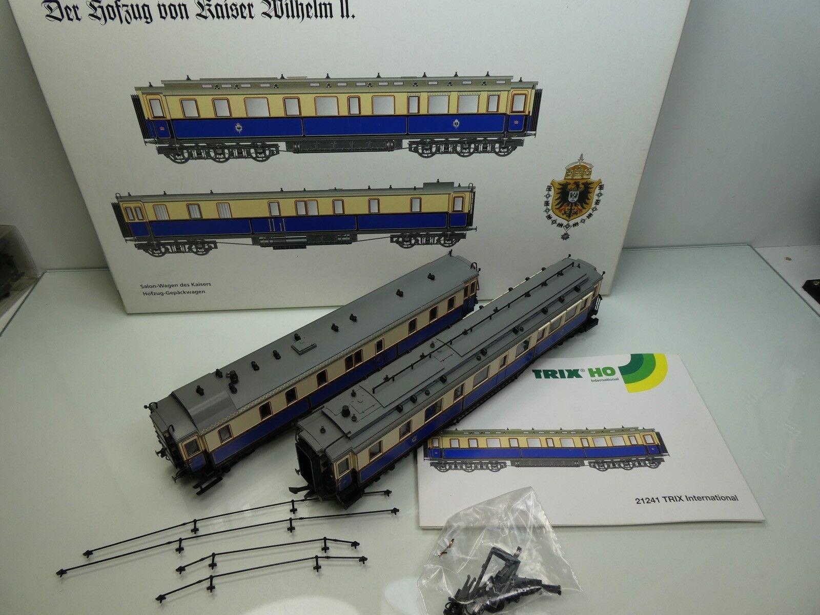 Trix 21241  H0  2tlg. Set  Hofzug von Kaiser Wilhelm II  TOP in OVP   61033