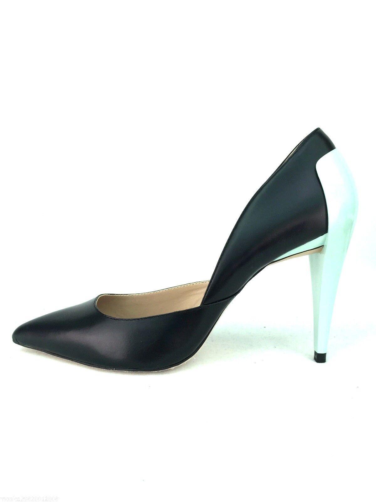 Zara Leder Absatz Asymmetrische Pumps UK5 UK6