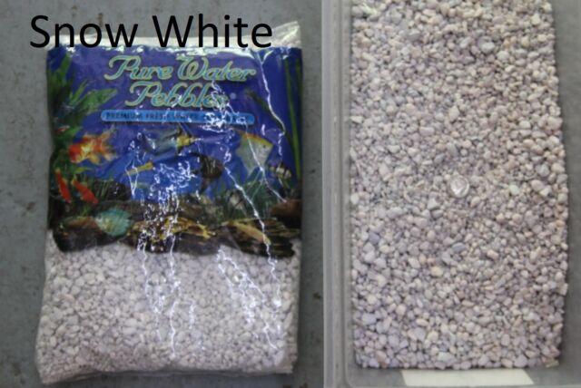 Snow White - 5 lbs Aquarium Fish Tank Gravel, Pure Water Pebbles color rocks
