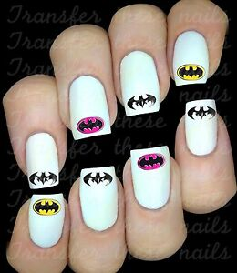 BATMAN-Stickers-ongles-autocollant-manucure-nail-art-water-decal