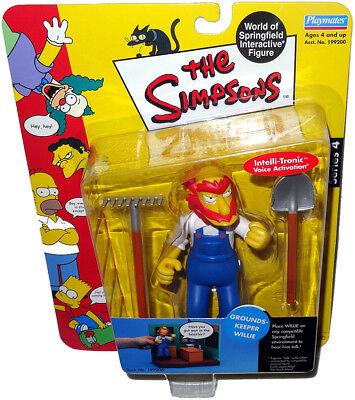 Simpsons WILLIE LE JARDINIER figurine ADJ MOC Series 4 Intelli-Tronic jouet!