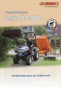 Iseki Tm 3000 Prospekt 2009 11/09 Landmaschinen Traktor Kompaktschlepper Tractor