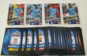 2020-Match-Attax-101-Soccer-Cards-Lot-of-50-cards-inc-4-Manchester-City-Shiny
