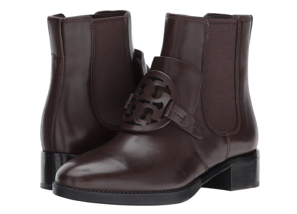 Tory Burch New Miller Chocolate Brown 25MM Ankle Ankle Ankle Bootie 8 RUNS .5 SIZE SMALL 86da5e