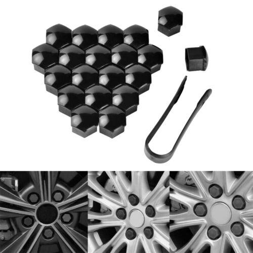 Kunststoff Radmutter-Abdeckungssatz Schwarz 20 Stück Staubschraube Qualität
