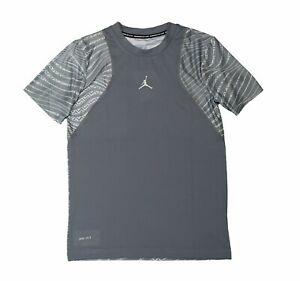 Nike Boys Jordan Dri-Fit Training Shirt Workout Elephant Print Youth Large
