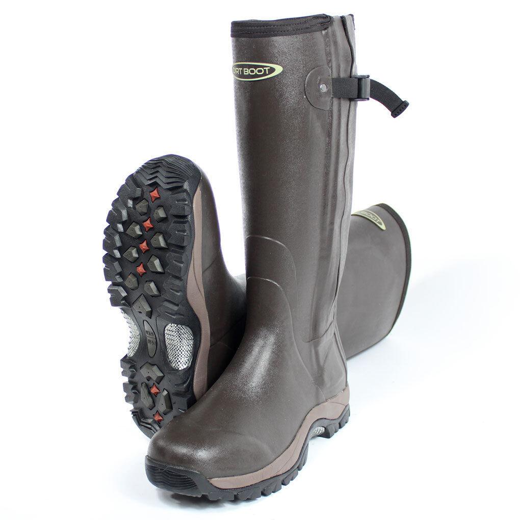 03ff1285ee1 Boot Muck Wellington Rubber Boot® Dirt Pro-Sport™ Neoprene Brown Zip ...