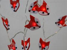 Felt Fox LED Stringlights, Soft, Battery-Powered, Low Voltage Fairy Lights
