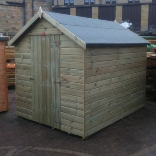 Fully T/&G Hut FAST Wooden Apex Garden Shed Tanalised Pinelap Factory Seconds