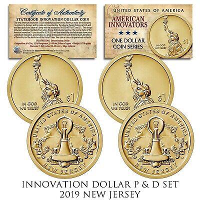 American Innovation DELAWARE 2019 Statehood $1 Dollar COLORIZED UNC Coin w// COA