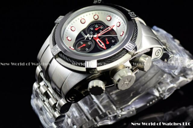 Invicta 53mm Reserve Bolt Zeus Lamborghini Style Black Pearl Chrono Swiss Watch
