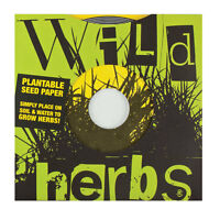 Wild Herbs Plantable Seed Paper 45 Record 2 Discs Indoor Gardening Educational