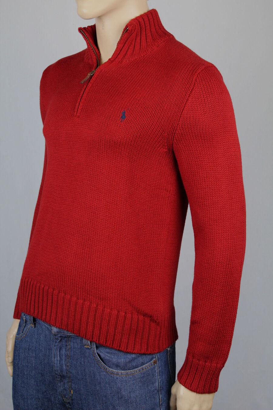Polo Ralph Lauren L Rot 1 2 Sweatshirt Blau Pony Nwt