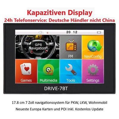 7 Navigationsgerät,Bluetooth,Radarwarner,AV-IN,Freisprechen,PKW,LKW,Wohnmobile