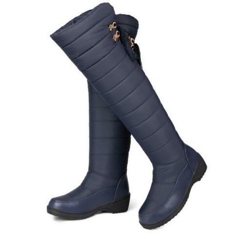 Snow Boots Waterproof Over The Knee Thigh High Winter Shoes Women Fashion Warm