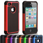 Shock Proof Hybrid Gel Silicone Hard Back Case Cover For Apple iPhone 4/4S 5/5S