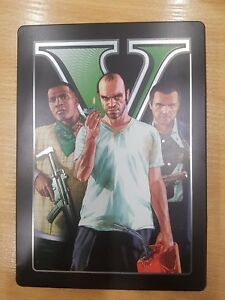 GTA-V-Grand-theft-auto-empty-steelbook-metal-game-case-box-only-NO-GAME