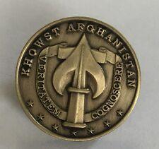 "CIA NCS SAD SOG Khowst Afghanistan 30 Dec 2009 7 Star Pin Antique Brass 7/8"""