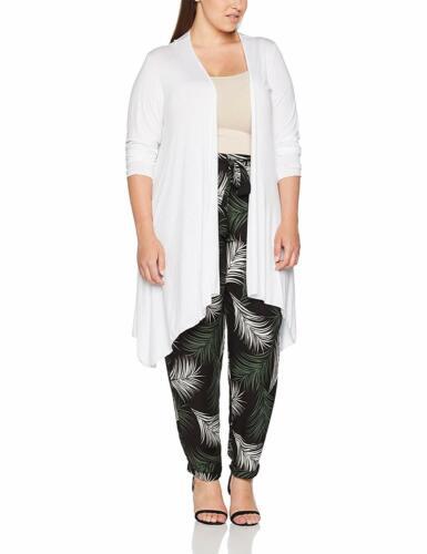New Hanky Hem Open Waterfall Jersey Cardigan Womens Long Sleeve Fancy Dress Top