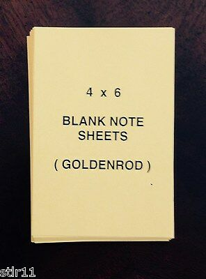 """"""" Goldenrod """" Loose Sheets 4 X 6 """" 100 Sheets Lot Of 3* Refill Note Paper"""