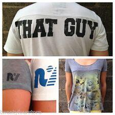 Mens Rebel Yell THAT GUY V Neck T Shirt sz L XL in White RARE STYLE