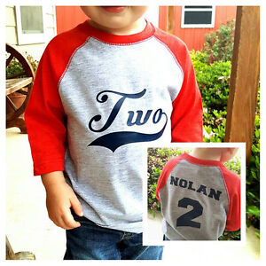 2nd Birthday Shirt Two Year Old Baseball Birthday Boy Shirt 2nd