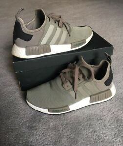 huge sale 8febe 57f96 Image is loading Adidas-Nmd-R1-Trace-Cargo-Green-Size-10